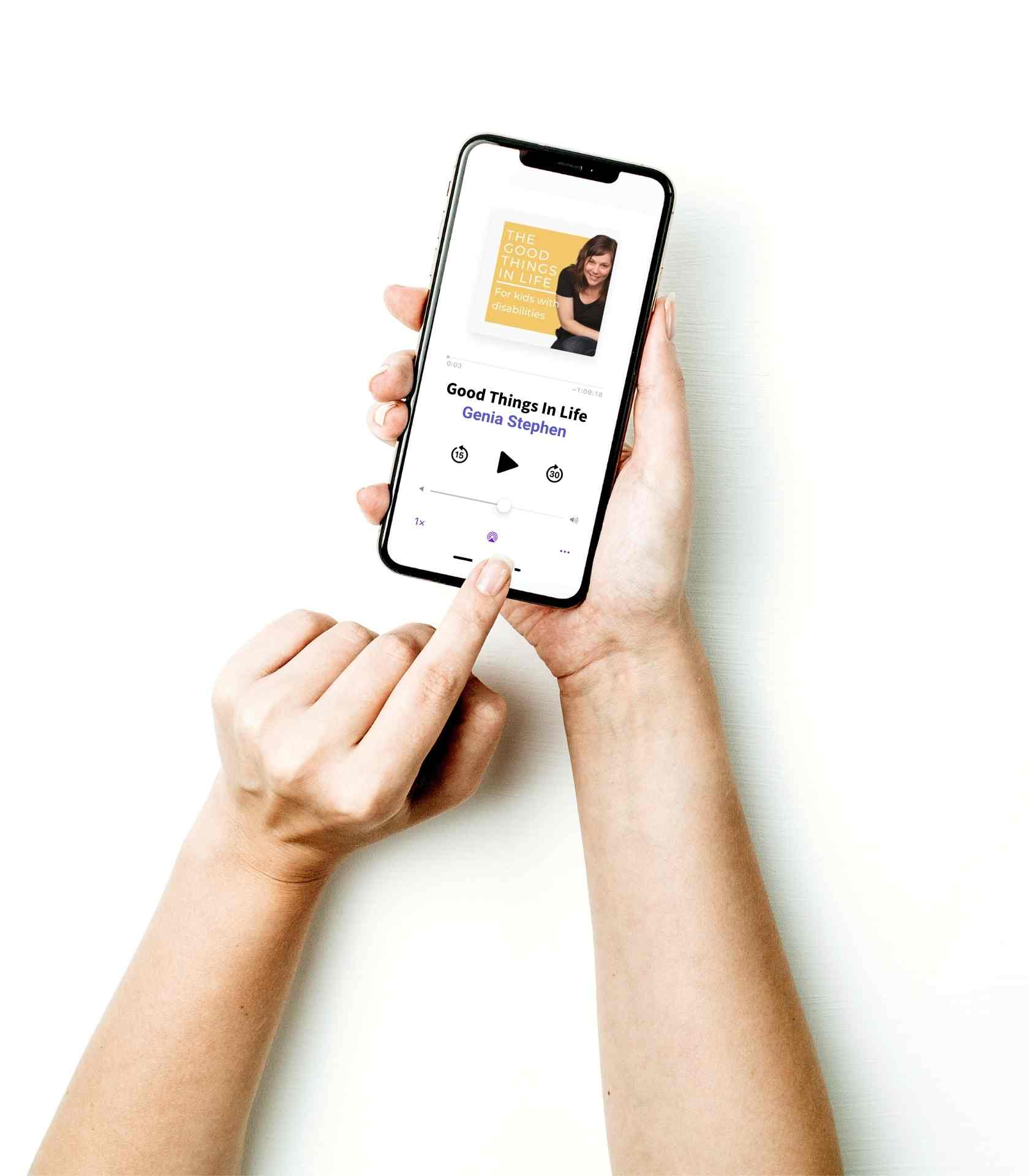 iphone with podcast image